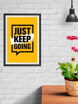 Just Keep Going (yellow)