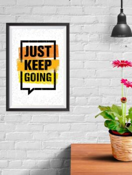 Just Keep Going (white)